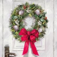Servietten 25x25 cm - White Wreath