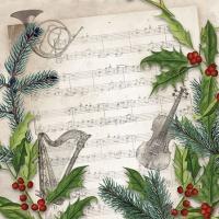 Servietten 25x25 cm - Weihnachtslied