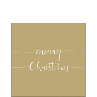 Servietten 25x25 cm - Christmas Note Gold
