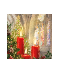 Servietten 25x25 cm - Candles In Church