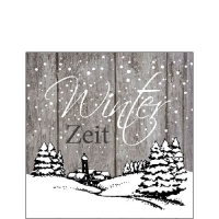Servietten 25x25 cm - Winter Zeit Grau