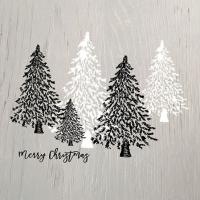 Servietten 25x25 cm - Wooden Trees Grey