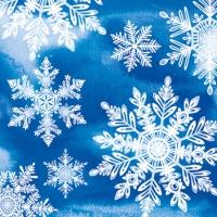Servietten 25x25 cm - Kristalle Blau