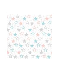 Servietten 25x25 cm - Sterne im ganzen Land Benzin