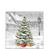 Servietten 25x25 cm - Baum auf dem Quadrat