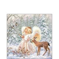 Servietten 25x25 cm - Winter Angel