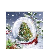 Servietten 25x25 cm - Tree In Snowglobe