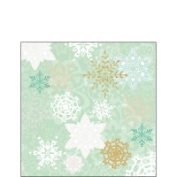 Servietten 25x25 cm - Delicate Stamps Green