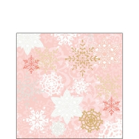 Servietten 25x25 cm - Delicate Stamps Rose