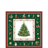 Servietten 25x25 cm - Christmas Evergreen Green