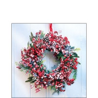 Servietten 25x25 cm - Frozen Wreath