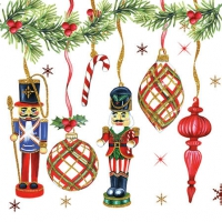 Servietten 25x25 cm - Nutcrackers Decoration
