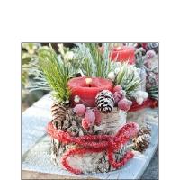 Servietten 25x25 cm - Frozen Candle