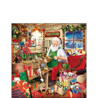 Servietten 25x25 cm - Santa`s Workshop