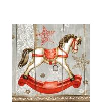 Servietten 25x25 cm - Rocking Horse