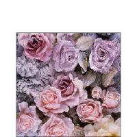 Servietten 25x25 cm - Winter Roses