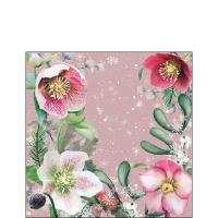 Servietten 25x25 cm - Helleborus Orientalis Rose