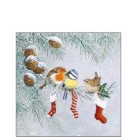 Servietten 25x25 cm - Christmas Socks