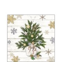Servietten 25x25 cm - Decorated Branches