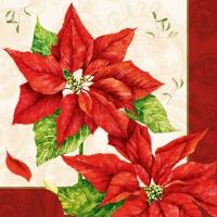 Servietten 33x33 cm - Weihnachtszeit Rot