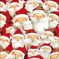Servietten 33x33 cm - Funny Santa