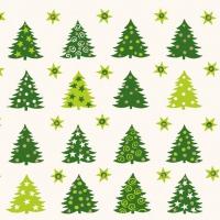 Servietten 33x33 cm - Wald der Bäume Grün