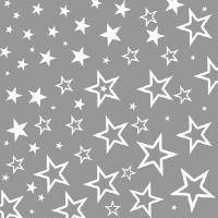 Servietten 33x33 cm - Sternenhimmel Silber