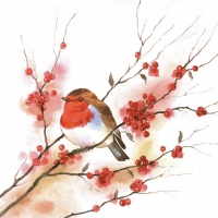 Servietten 33x33 cm - Birdy Robin