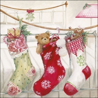 Servietten 33x33 cm - Christmas Stockings