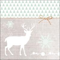 Servietten 33x33 cm - Deer Silhouette Green