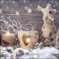 Servietten 33x33 cm - Natürliche Weihnachten