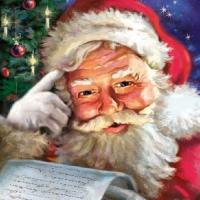 Servietten 33x33 cm - Erinnere dich an den Weihnachtsmann!