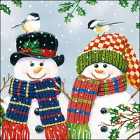 Lunch Servietten Snowman Couple