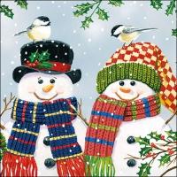 Servietten 33x33 cm - Snowman Couple