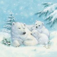 Servietten 33x33 cm - Eisbären