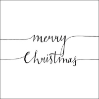 Servietten 33x33 cm - Christmas Note White