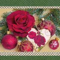 Lunch Servietten Romantic Rose Green