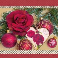 Lunch Servietten Romantic Rose Red