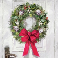 Servietten 33x33 cm - White Wreath