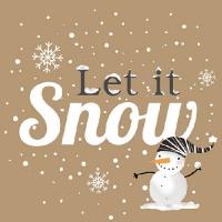 Lunch Servietten Snowball Snowman Brown