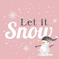 Lunch Servietten Snowball Snowman Rose