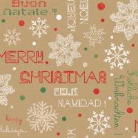 Servietten 33x33 cm - Joyeux Noël