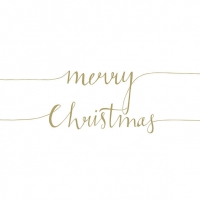 Servietten 33x33 cm - Christmas Note Pos. Gold