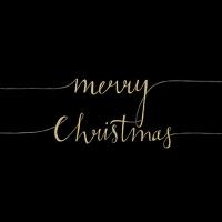 Servietten 33x33 cm - Christmas Note Black/Gold