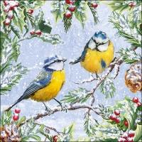 Servietten 33x33 cm - Chirping Birds
