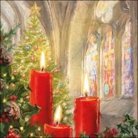 Servietten 33x33 cm - Kerzen in der Kirche