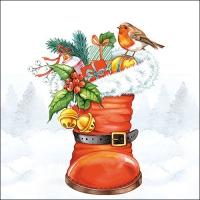 Servietten 33x33 cm - Weihnachtsstiefel