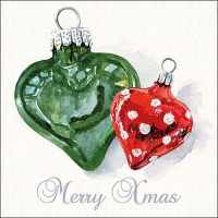 Servietten 33x33 cm - Christmas Hearts