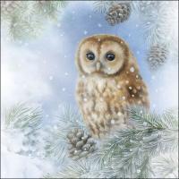 Servietten 33x33 cm - Tawny Owl