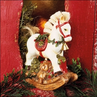 Servietten 33x33 cm - White Rocking Horse